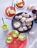 Spargel-Chili-Schafskäse-Tortilla, Kartoffeln in Salzkruste, Melonensalat (Spanien)