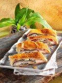 Ham and ramson strudel