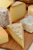 Various Cheese on Wooden Breadboards
