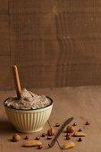 Sweet bean cream with vanilla and cinnamon