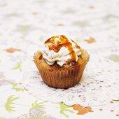 Caramel Apple Cupcake with Caramel Drizzle