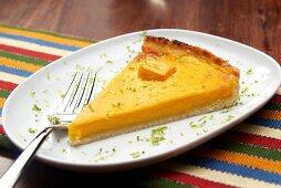 Pumpkin tart with lime zest