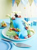 Jungle cake with waterfall