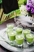 Pea and mint soup with yoghurt