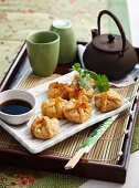 Wontons filled with pork and mushrooms