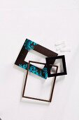 Empty picture frames and sticky strips