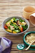 Tofu and vegetables with rice