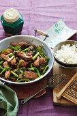 Pork with choy sum