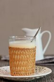 Hot milk and honey with egg