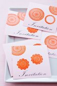 Hand-crafted invitation cards