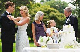 People at wedding reception