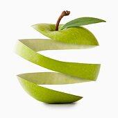 Apple peel in apple shape, studio shot