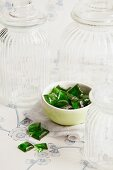 Home-made green peppermint sweets
