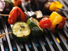 Vegetable skewers on the barbecue