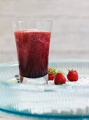 Strawberry, apple and grape smoothie