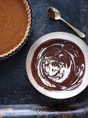 Chocolate torte with ganache