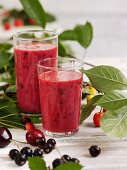 Berry and cherry smoothie