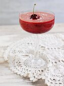 Apple and cherry drink with coconut