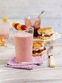 Raspberry cheesecake smoothie