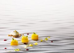 Pineapple cooked 'sous vide' with sour-cream ice cream
