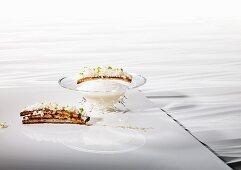Cauliflower soup cooked 'sous vide' with ras el hanout