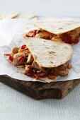 Quesadillas with chicken and peppers (Mexico)