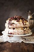 Black Forest pavlova (meringue layer cake)