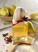 Pear liqueur, home-made