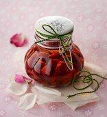 Cherries preserved in kirsch