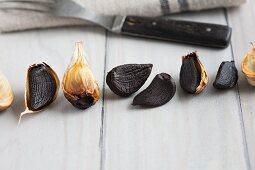 Black garlic cloves