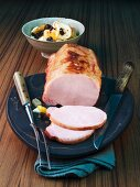 Smoked pork loin with dried fruit