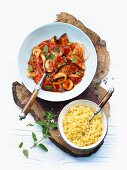 Middle Eastern vegetable stew with couscous