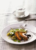 Roast barley with vegetables and sage