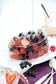 Champagne berry jelly on a plate