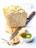 White loaf bread 'Kastenweissbrot' with herbs