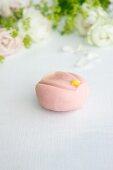 Wagashi shaped like a plum blossom