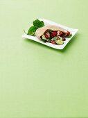 Greek Salad Stuffed Pita