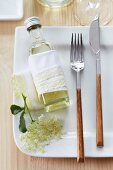 Elderflower syrup as a gift for a guest