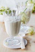 Elderflower yogurt in glasses