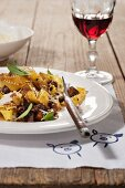 Pasta with wild boar ragout (Tuscany)