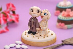 A cake for a golden wedding anniversary