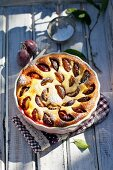 Baked quark dish with plums