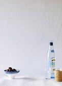 Black olives and ouzo