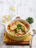 Squash risotto with parmesan and parsley