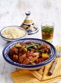 Chicken tajine with couscous