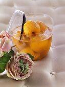 Apricots in Gewürztraminer wine