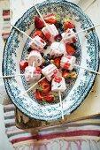 Berry ice cream on sticks
