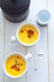 Carrot soup with olive oil