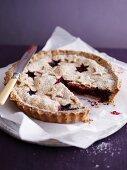 Christmas blueberry pie