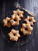 Star-shaped Christmas doughnuts